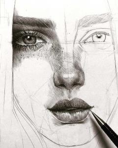 آموزش گام به گام طراحي چهره با مداد