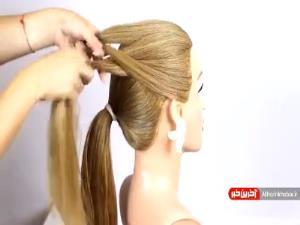 آموزش شنیون موها با کمک هنر بافتن