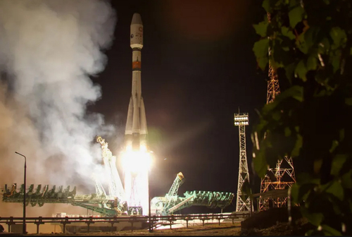 لحظه ارسال راکت فضایی سایوز روسی
