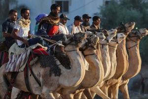 مسابقه شترسواري در غزه