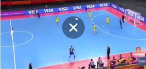 صحنه عجیب داوری به سود تیم لیتوانی، میزبان جام جهانی فوتسال در بازی با قزاقستان