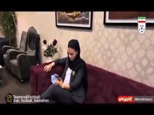 آرزوی موفقیت علی قلیزاده برای همسرش (یاسمن فرمانی)