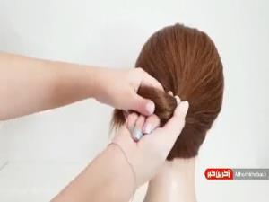 ایده ای بسیار ساده برای بستن موهای کوتاه