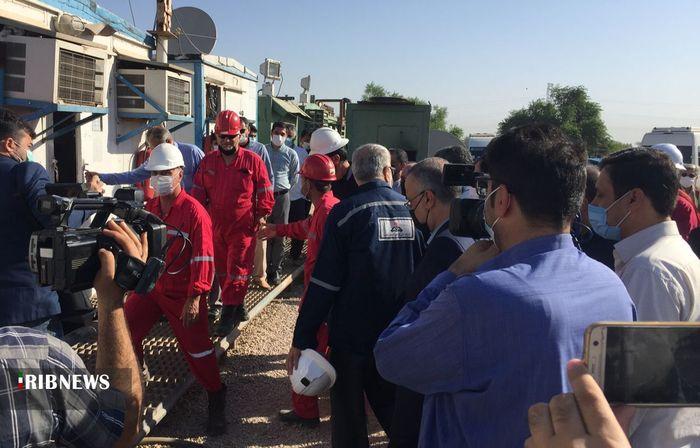 بازديد وزير نفت از پروژههاي نفتي خوزستان
