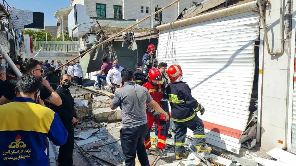 انفجار در بازارچه نظرآباد سبب آسيب به ۱۳ مغازه شد