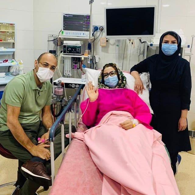 ماجرای عکسی که خاله شادونه از خود روی تخت بیمارستان منتشر کرد
