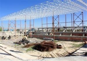 افتتاح ۲ پروژه بزرگ ورزشی در میبد با حضور استاندار یزد