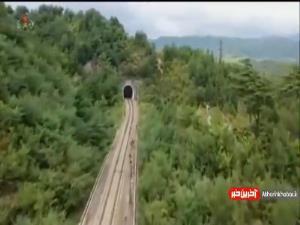 شلیک موشکهای کره شمالی از روی ریل قطار
