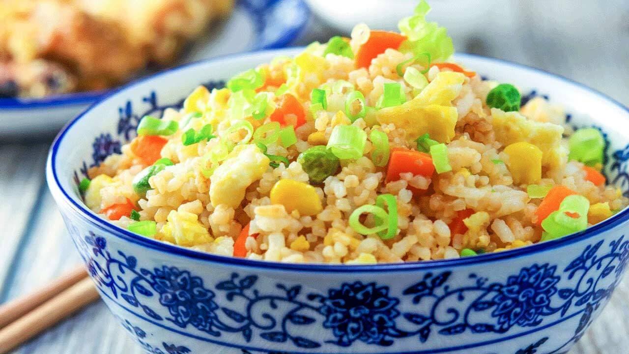 آموزش پخت «برنج سرخ کرده» با سبزيجات