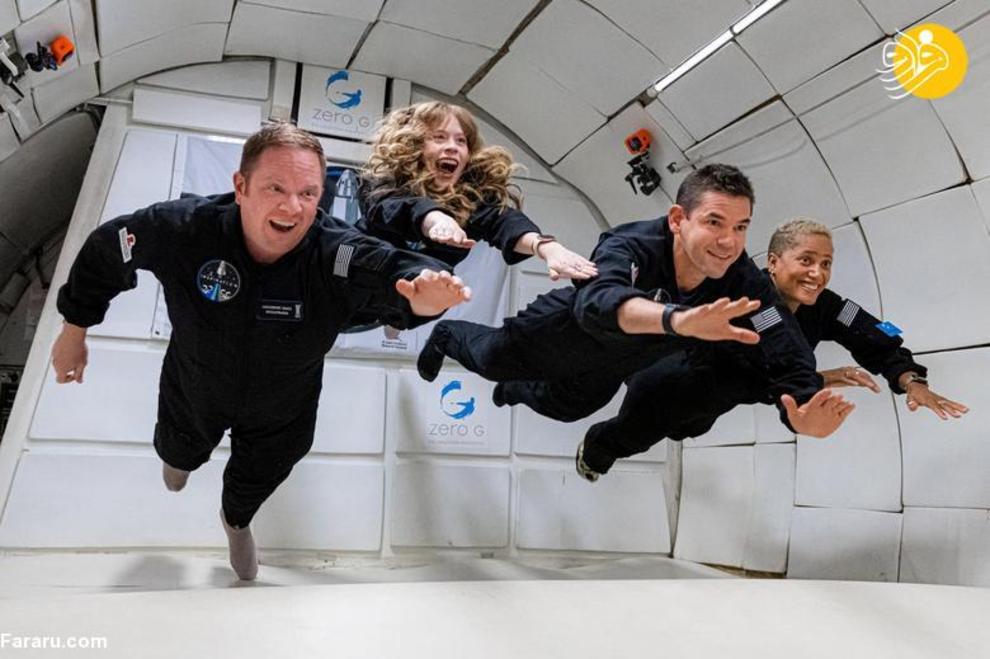 عکس/ سفر اسپیس ایکس با چهار فضانورد آماتور