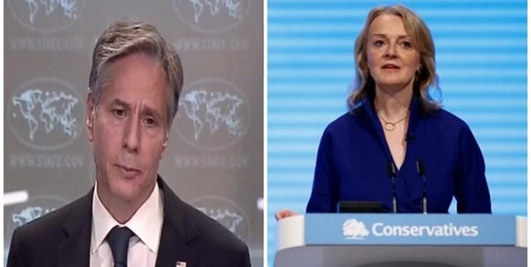 رایزنی بلینکن با وزیر خارجه جدید انگلیس درباره ایران