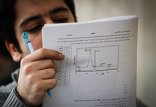 رشد غیرعادی نمرات امتحانی دبیرستانی ها در برخی دروس