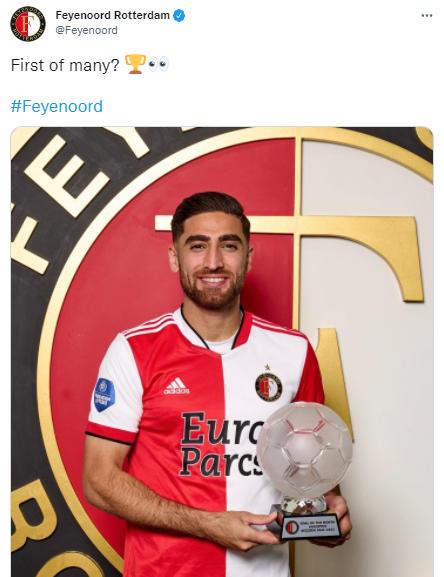 واکنش جالب باشگاه فاینورد به جایزه جهانبخش