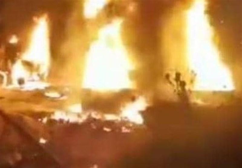 آتشسوزي مخازن سوخت در جنوب لبنان