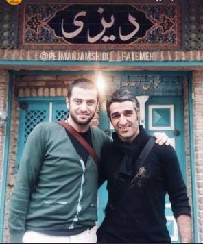 چهرهها/ عکسی قدیمی از پژمان جمشیدی و علی ضیاء