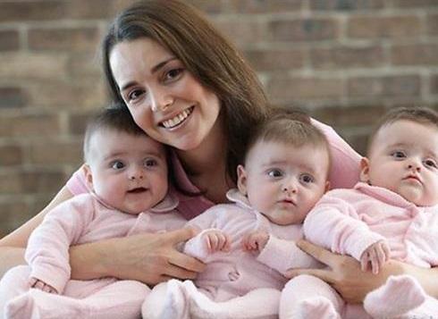 خانمي که سه قلوي دختر همسان به دنيا آورده؛ اتفاقي که در هر ۲۰۰ ميليون بار يک بار ميفته