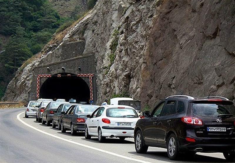 ترافیک بسیار سنگین در محور کرج - چالوس