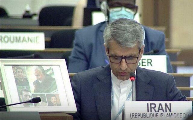 مقام ایرانی: آمریکا و حامیان تحریم ملت ها، مرتکب جنایت علیه بشریت می شوند