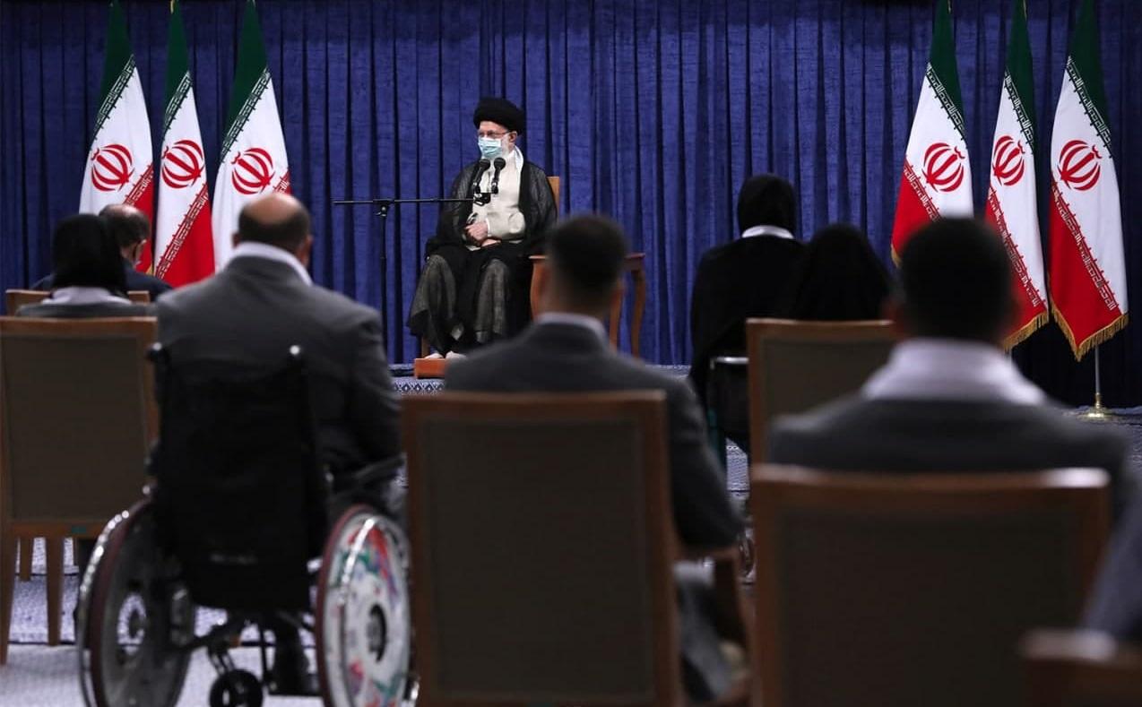 دیدار قهرمانان المپیک و پارالمپیک ایران در بازیهای ۲۰۲۰ توکیو با رهبر انقلاب