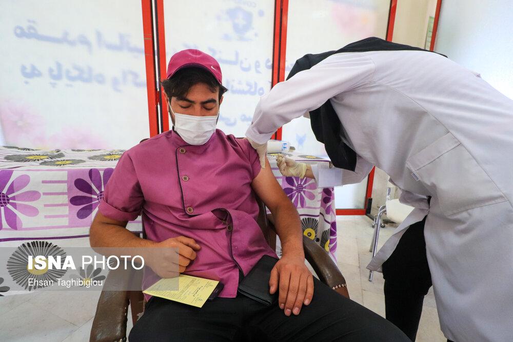 عکس/ واکسیناسیون دانشجویان در زنجان