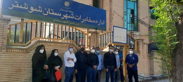 ممانعت از ورود کارکنان شرکتی مخابرات شوشتر به محل کار
