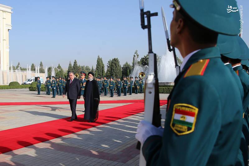 عکس/ استقبال رسمی امامعلی رحمان از رئیسی