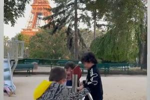 عکسی که همسر مسی از بچههایش منتشر کرد