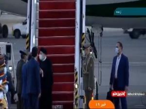 لحظه بازگشت رئیسی از تاجیکستان