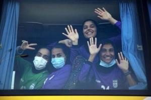 روحیه بالای زنان فوتبال ایران برای بازی با بنگلادش
