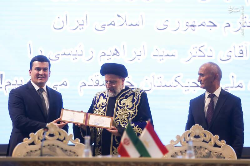 عکس/ اعطای مدرک دکترای افتخاری به رئیسی در دانشگاه ملی تاجیکستان