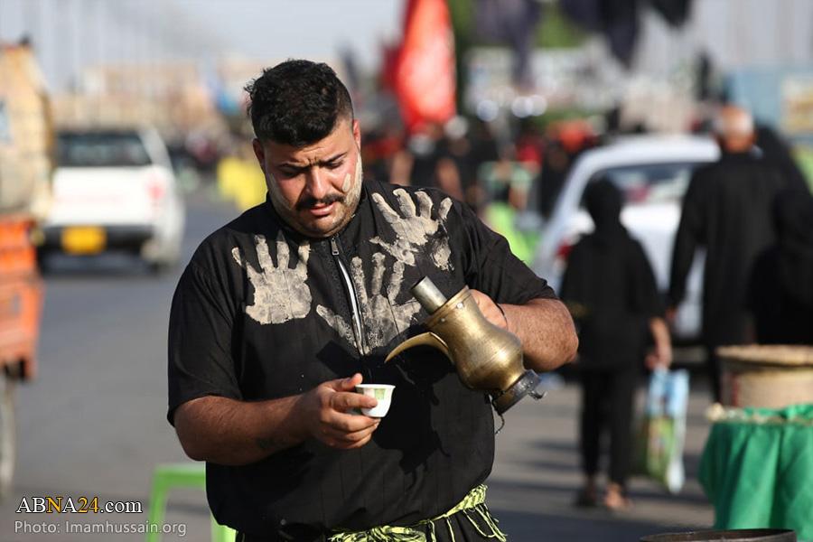 عکس/ حال و هوای پیادهروی اربعین در عراق