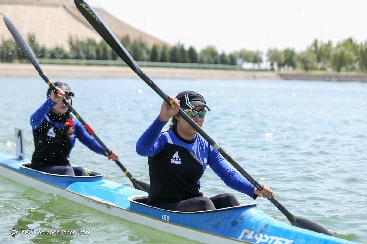 مسابقات قایقرانی آبهای آرام قهرمانی کشور در بخش بانوان
