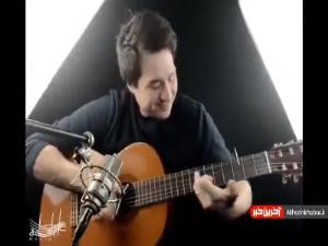 گیتار نوازی با چوب کبریت و یک صدای جالب