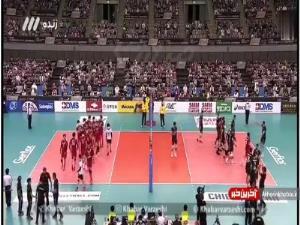 شادی ملیپوشان تیم ملی والیبال ایران پس از قهرمانی در آسیا