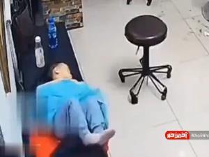 حرکت حیرت انگیز مادر برای جلوگیری از آسیب فرزندش