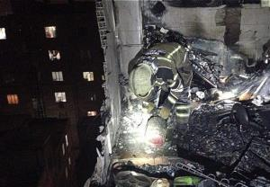 انفجار در ساختمان ۷ طبقه مسکونی