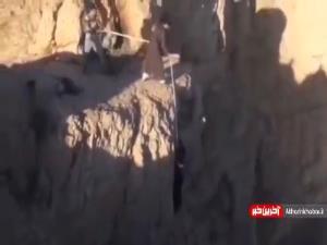 عملیات نجات یک شهروند با عمامه یک روحانی