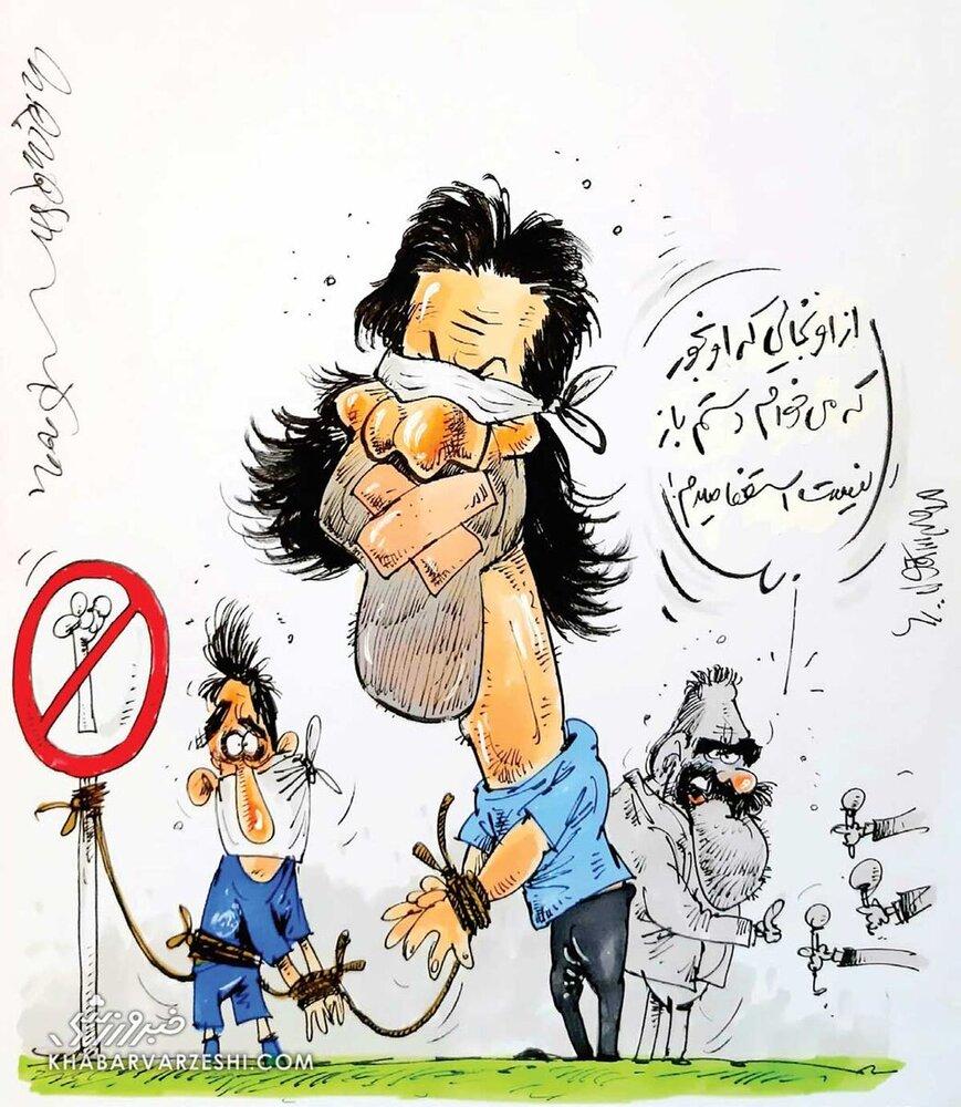 کاریکاتور/ دلیل استعفای مددی رو ببینید!