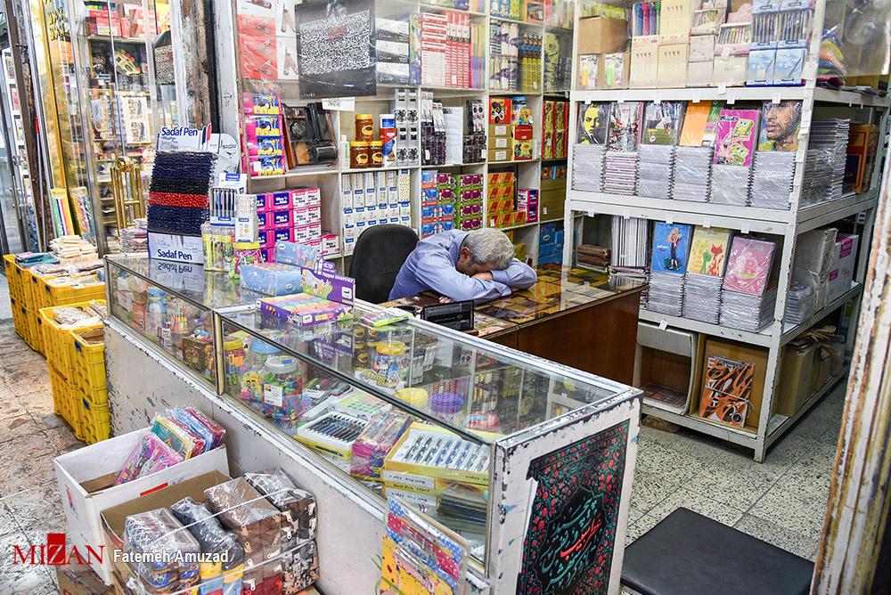 عکس/ خزان بي مهر بازار لوازم التحرير