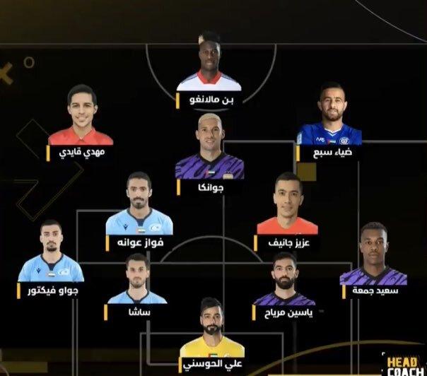 قائدی بهترین بازیکن هفته لیگ برتر امارات شد