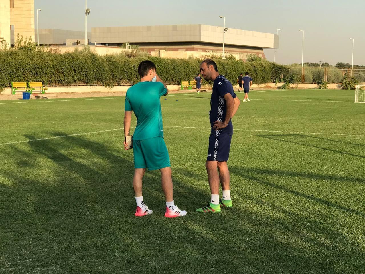 احمدزاده و کریستوفر غایبان تمرین سپاهان