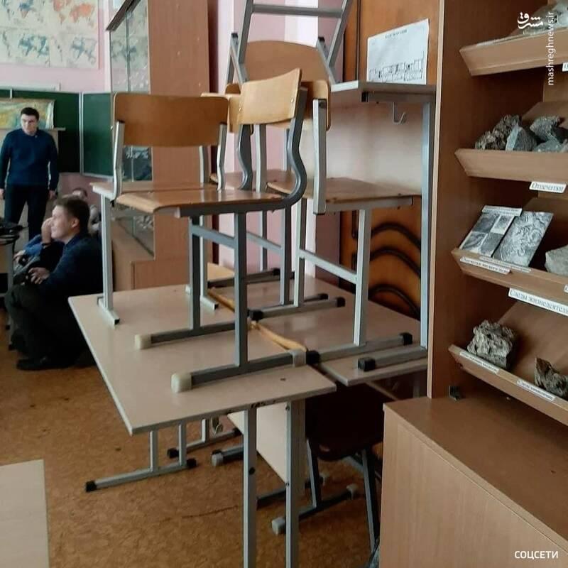 نحوه مقابله دانشجویان با فرد مسلح در روسیه