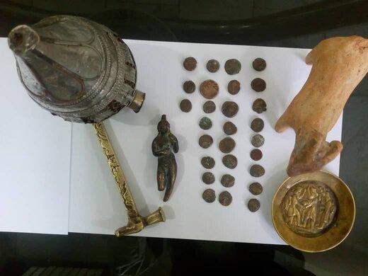 کشف ۲۸ سکه دوران اشکانی و الیمایید در شازند