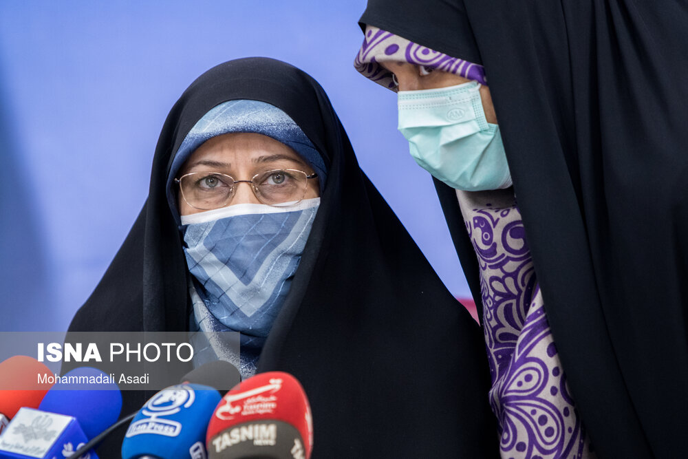 عکس/ اولین نشست خبری معاون رییس جمهور در امور زنان و خانواده