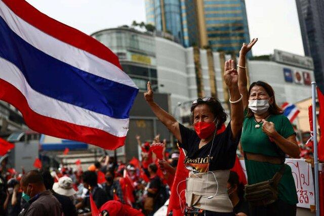 معترضان خواستار برکناری نخست وزیر تایلند در سالروز کودتا شدند