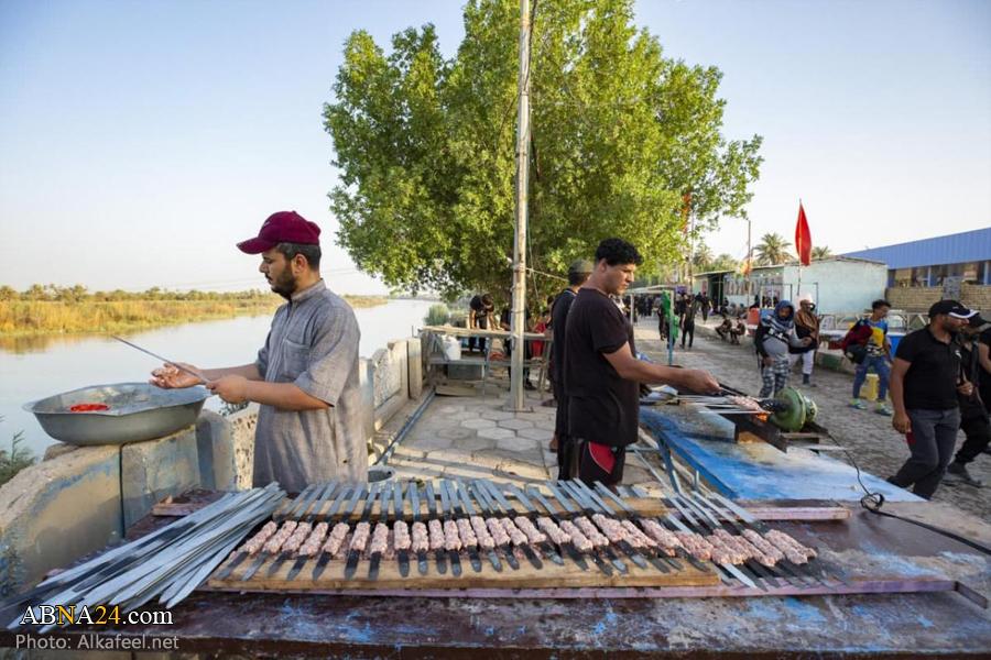 پخت کباب نذری برای زائران اربعین
