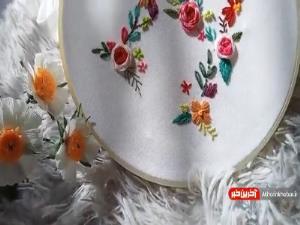 آموزش گلدوزی دستی با طرحی زیبا و خاطره انگیز
