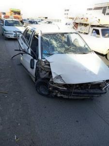 تصادف ۲ خودروسواری در بلوار نصر شیراز
