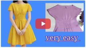 آموزش دوخت پیراهن دخترانه