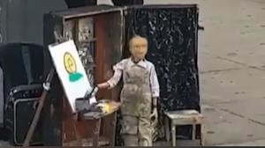 نقاشی کشیدن یک عروسک دوره گرد!